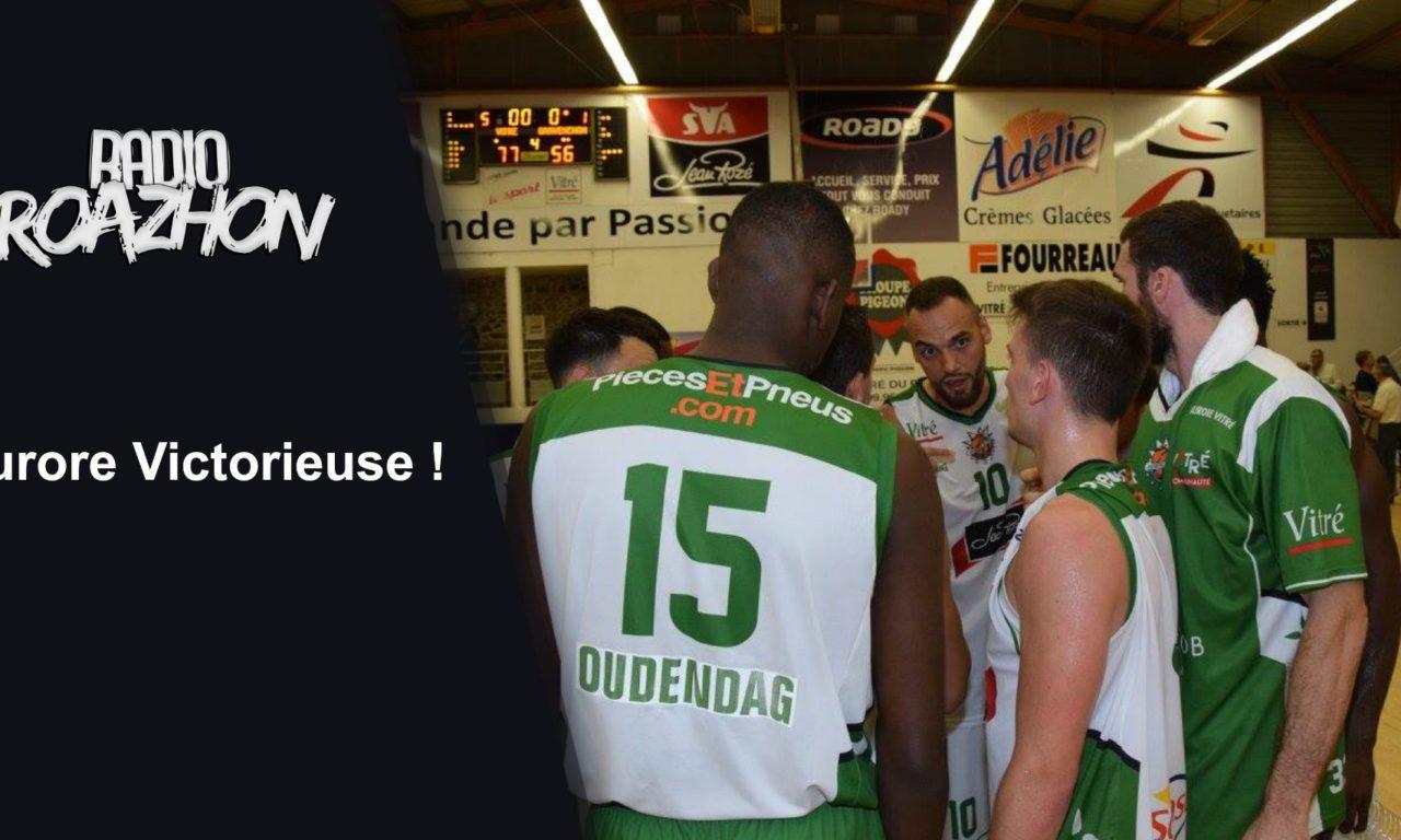 Première réussie pour l'Aurore Vitré Basket et Radio Roazhon !